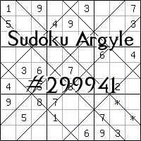 Судоку-аргайл №299941