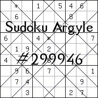 Судоку-аргайл №299946