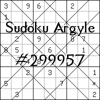 Судоку-аргайл №299957