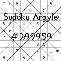 Судоку-аргайл №299959