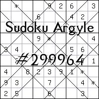 Судоку-аргайл №299964