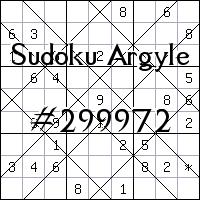 Судоку-аргайл №299972