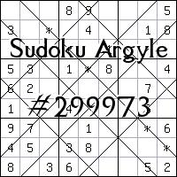Судоку-аргайл №299973