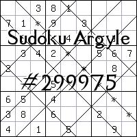 Судоку-аргайл №299975