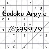 Судоку-аргайл №299979