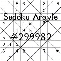 Судоку-аргайл №299982