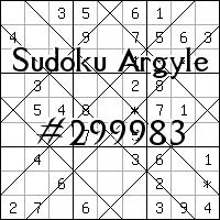 Судоку-аргайл №299983