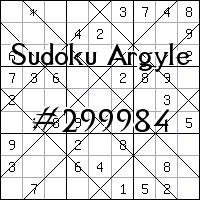 Судоку-аргайл №299984