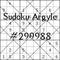Судоку-аргайл №299988
