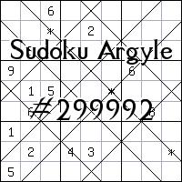 Судоку-аргайл №299992
