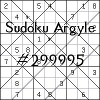 Судоку-аргайл №299995