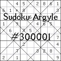 Судоку-аргайл №300001