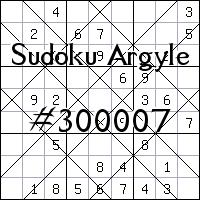 Судоку-аргайл №300007