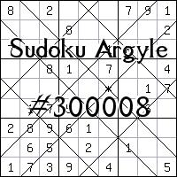 Судоку-аргайл №300008