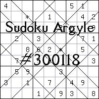 Судоку-аргайл №300118
