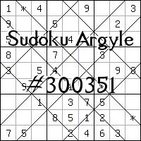 Судоку-аргайл №300351