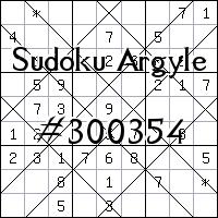 Судоку-аргайл №300354