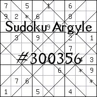 Судоку-аргайл №300356