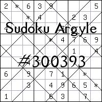 Судоку-аргайл №300393