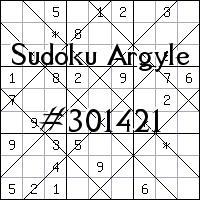Судоку-аргайл №301421
