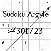 Судоку-аргайл №301723