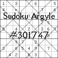 Судоку-аргайл №301747