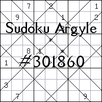 Судоку-аргайл №301860
