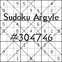 Судоку-аргайл №304746