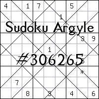 Судоку-аргайл №306265