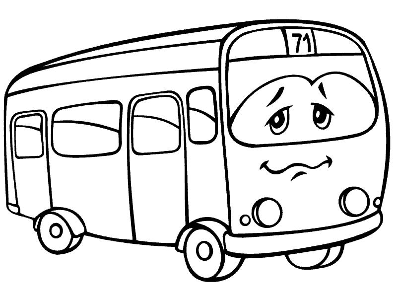 Раскраска «Автобус». №20298