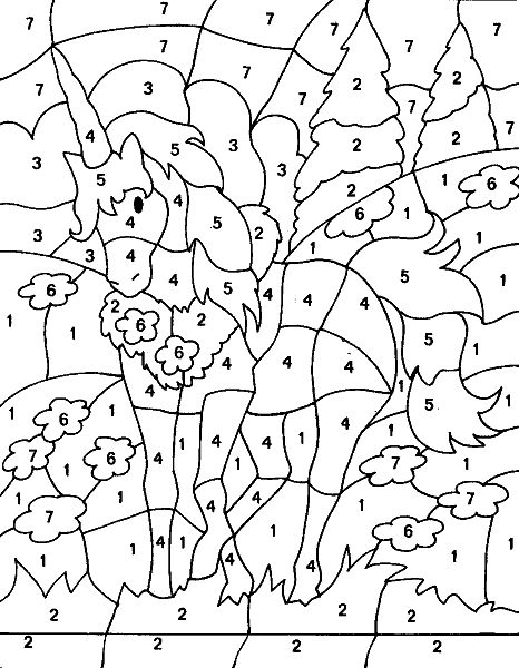 Раскраска «Единорог». №17757