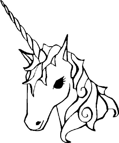 Раскраски онлайн «Единорог» . №37540