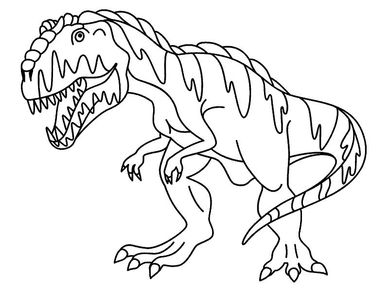 Раскраска «Гигантозавр». №23170