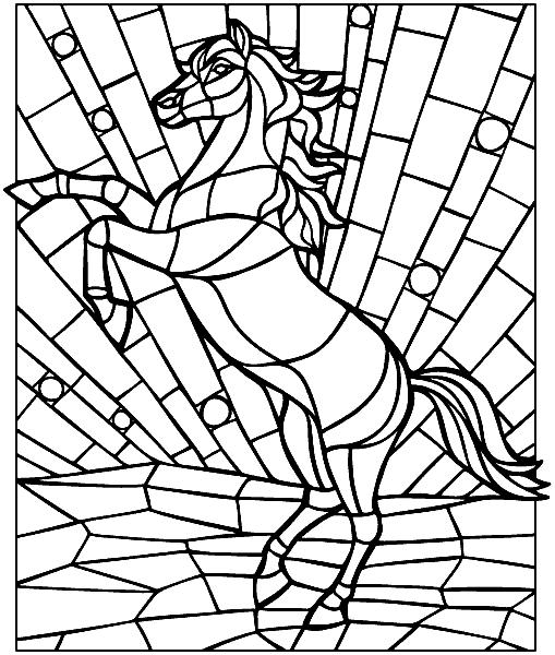 Раскраска «Конь». №30197