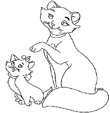 Раскраска «Кошка и котёнок». №71771