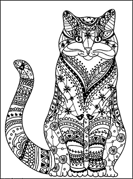 Раскраска «Котик». №179439