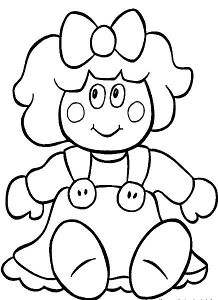 Раскраска «Кукла». №22836