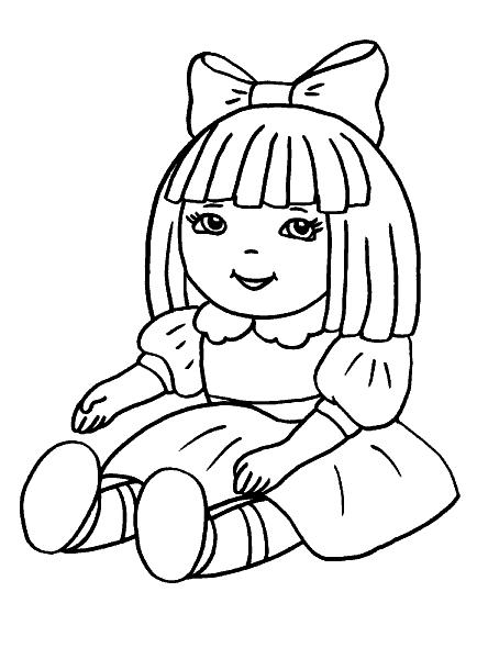Раскраска «Кукла». №26114