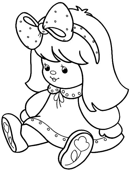 Раскраска «Кукла». №105251