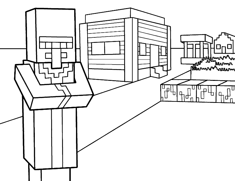 Раскраска «Майнкрафт». №17518