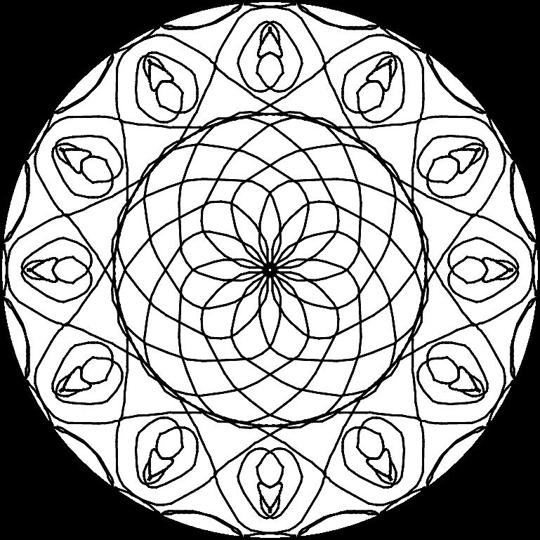 Раскраска «Мандала». №167718