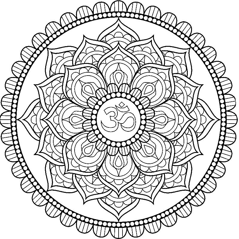 Мандалы картинки для срисовки, год петуха
