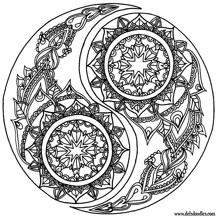 Раскраска «Мандала капли». №38984