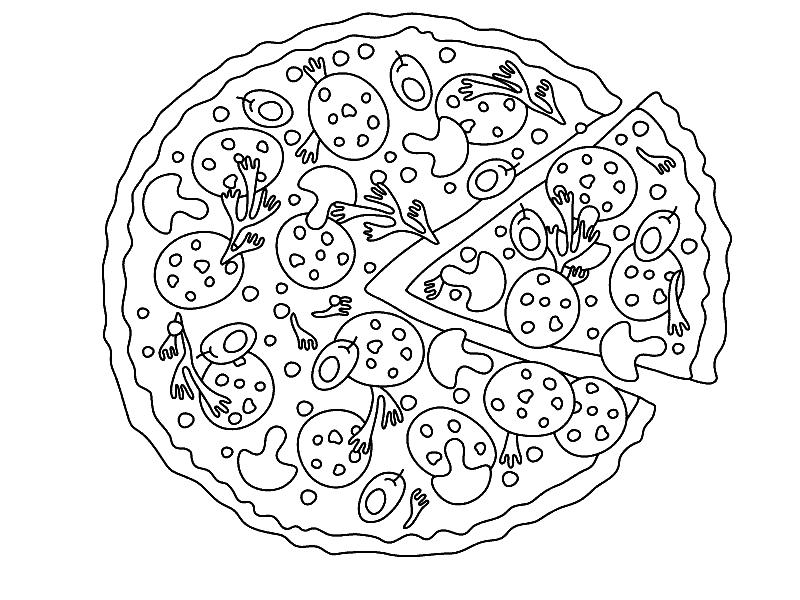 распечатать раскраски пиццы толстопятовы вели