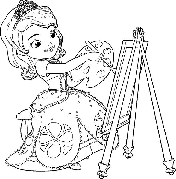 Раскраска «Принцесса София». №44819