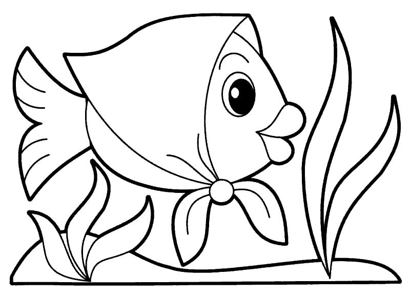 Раскраска «Рыбка девочка». №71362