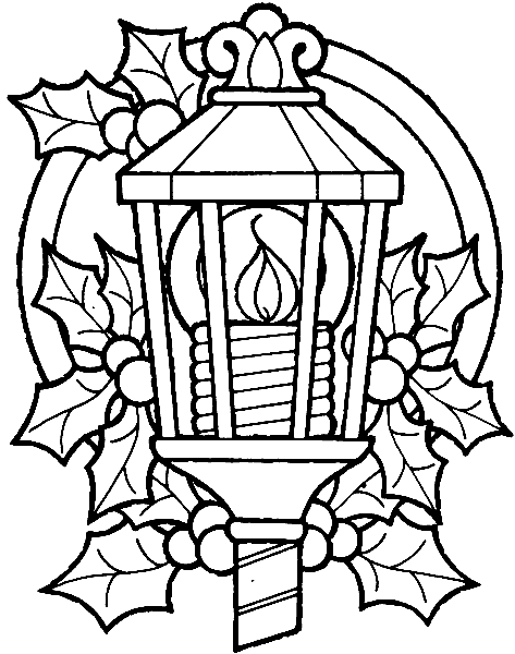 Раскраска «Рождественский фонарь». №113142