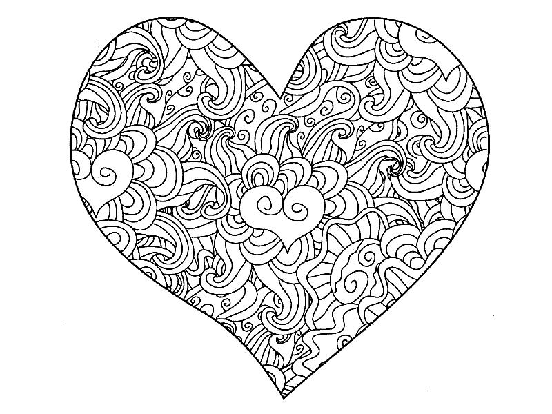 сердечки картинки красивые шаблоны черно белые среди