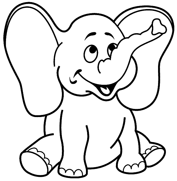 Раскраска «Слонёнок». №155356