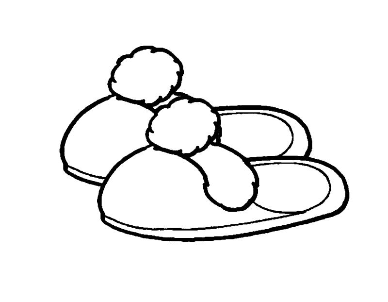 Раскраска «Тапочки». №20306